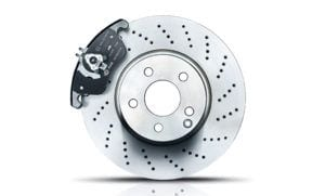 Brake disc and pad